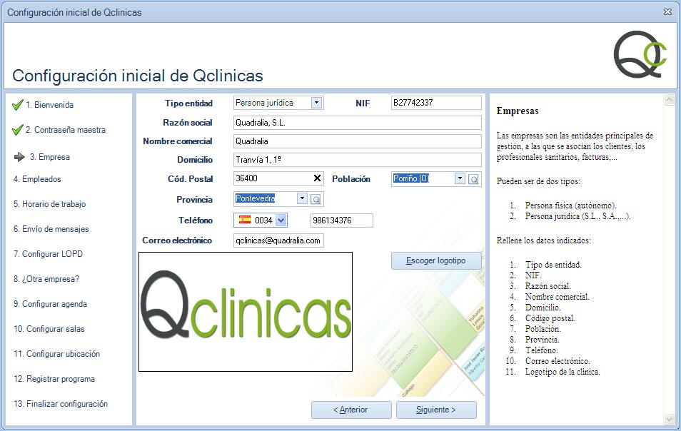03 Configuración inicial Qclinicas