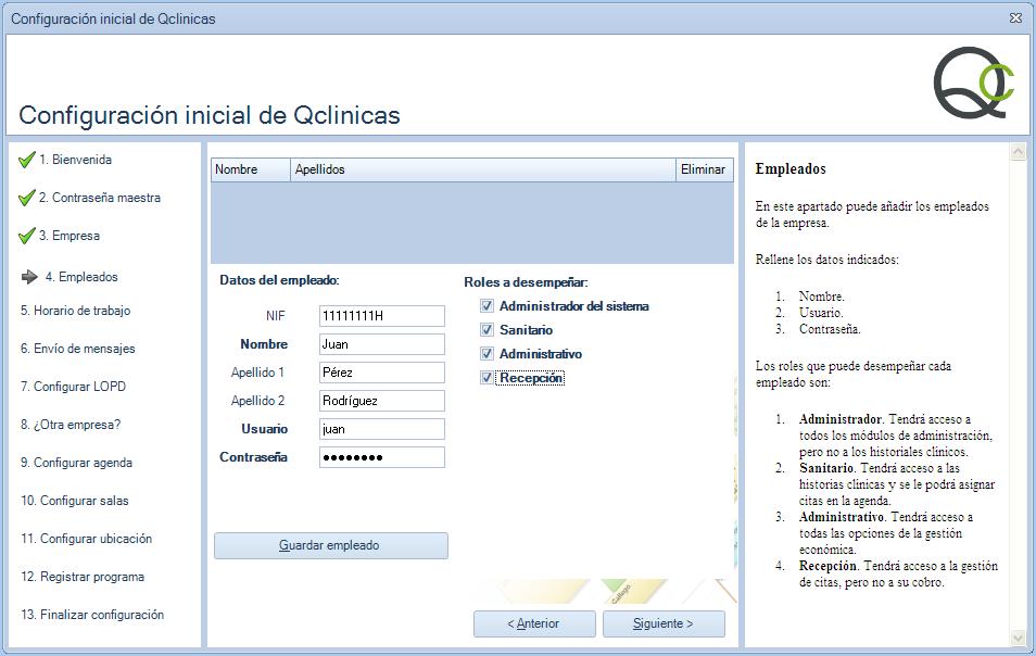 04 Configuración inicial Qclinicas