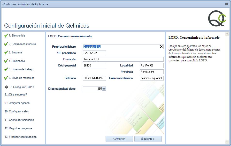 07 Configuración inicial Qclinicas