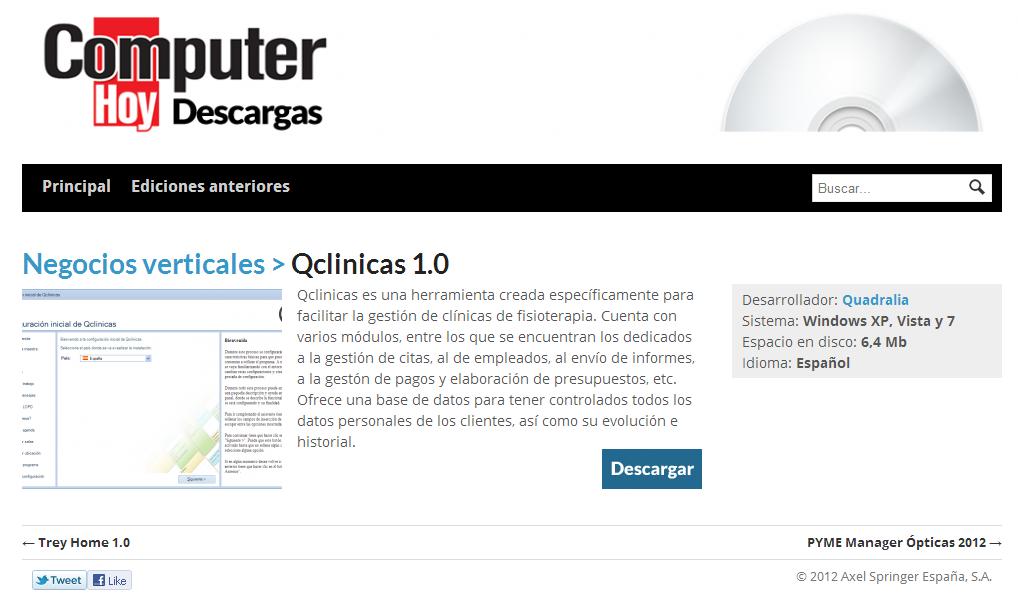 Qclinicas 1.0 - Descargas Computer Hoy