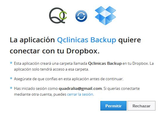 Conectar Qclinicas con Dropbox
