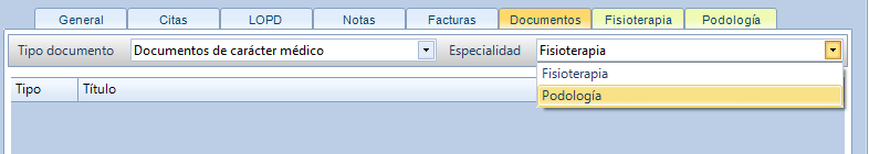 Documentos especialidades