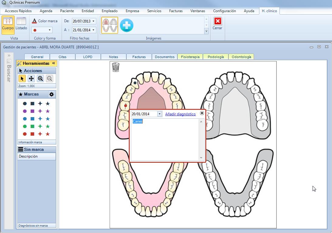 qClinicas gestion especialidad Odontologia